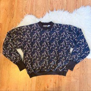 90s Vintage Bold Paisley Patterned Sweatshirt L